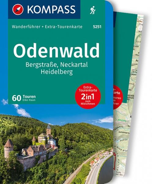 KOMPASS Wanderführer Odenwald mit Karte