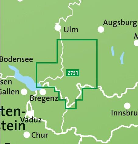 Kompass Wanderkarte Allgäu
