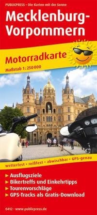 Motorradkarte Mecklenburg-Vorpommern