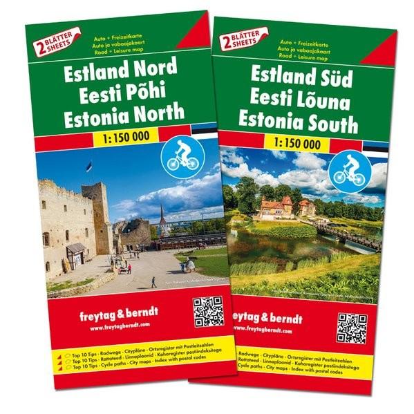F&B Autokarten Set Estland N+S