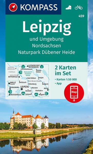 KOMPASS Wanderkarte Leipzig und Umgebung