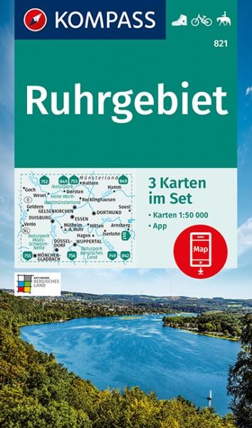 KOMPASS Wanderkarte Ruhrgebiet (3-K-Set)