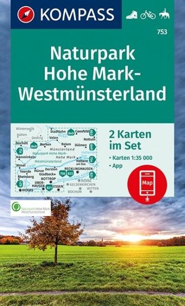 KOMPASS Wanderkarte Naturpark Hohe Mark