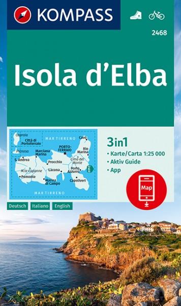 KOMPASS Wanderkarte Isola d Elba