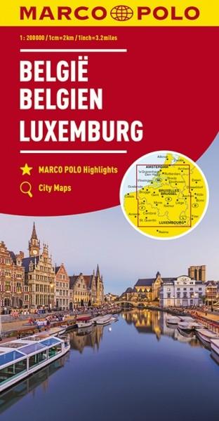 MP Karte Belgien / Luxemburg