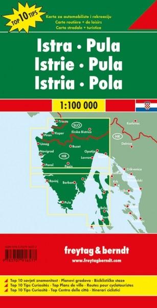 F&B Autokarte + Freizeitkarte Istrien - Pula
