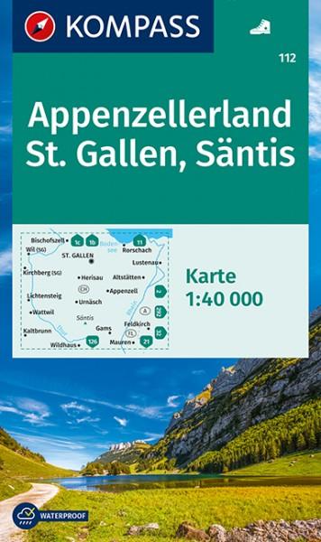 KOMPASS Wanderkarte Appenzelllerland, St. Gallen
