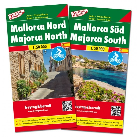 F&B Autokarten Set Mallorca Nord und Süd