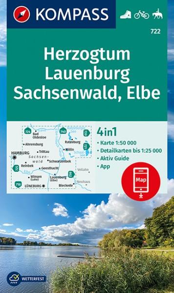 KOMPASS Wanderkarte Herzogtum Lauenburg, Sachsenw.