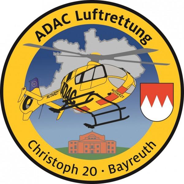 ADAC Luftrettung Fanpatch Christoph 20-Bayreuth
