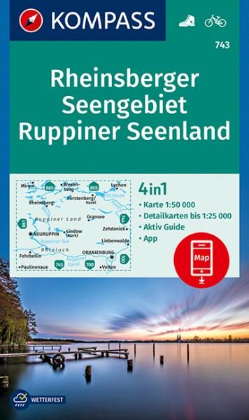 KOMPASS WK Rheinsberger Seengebiet, Ruppiner See.