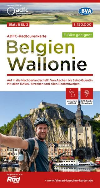 ADFC-Radtourenkarte BEL 2 Belgien Wallonie