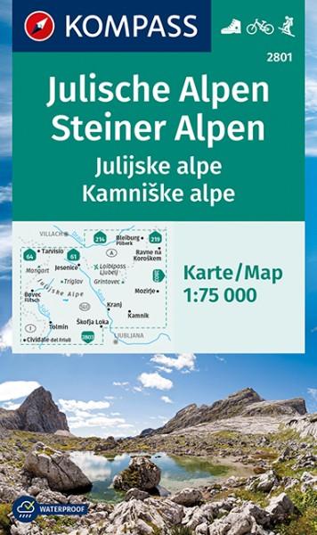 KOMPASS Wanderkarte Julische Alpen/Julijske alpe
