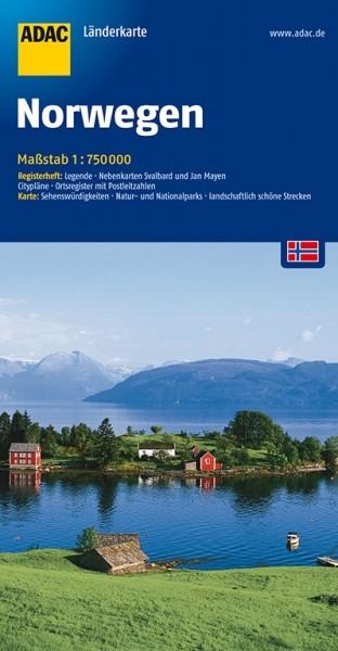 ADAC Länderkarte Norwegen