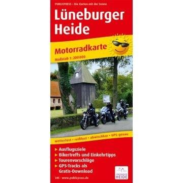 Motorradkarte Lüneburger Heide