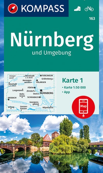 KOMPASS Wanderkarte Nürnberg und Umgebung