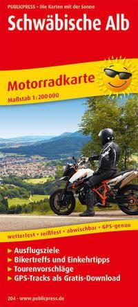 Motorradkarte Schwäbische Alb
