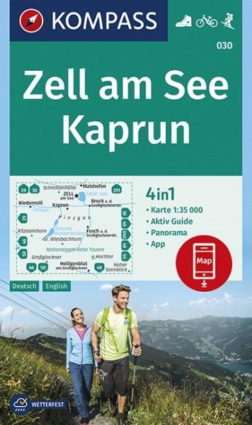 KOMPASS Wanderkarte Zell am See/Kaprun