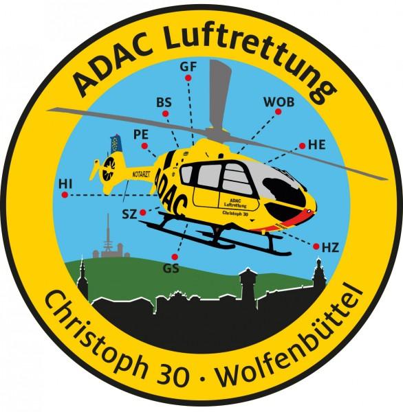 ADAC Luftrettung Fanpatch Christoph 30-Wolfenbütt.
