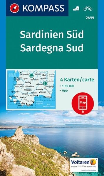 KOMPASS Wanderkarte Sardinien Süd
