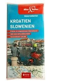 Motorradkarten Set Kroatien Slowenien