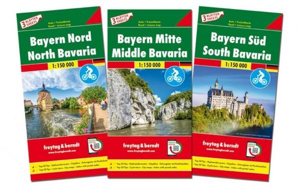 F&B Autokarten Bayern Set