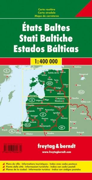 F&B Autokarte Baltische Staaten