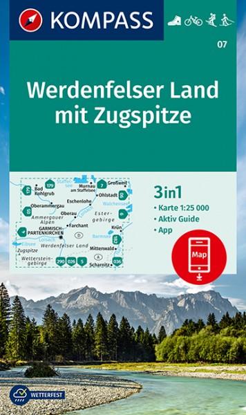 Kompass WK Werdenfelser Land mit Zugspitze