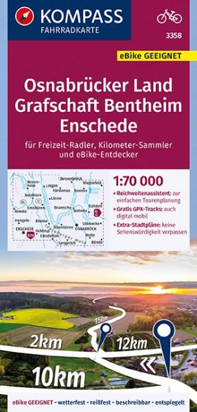 KOMPASS Fahrradkarte Osnabrücker Land, Grafschaft