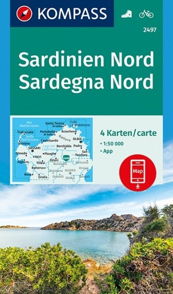 KOMPASS Wanderkarte Sardinien Nord