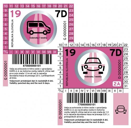 Slowenien Vignette PKW - 7 Tage