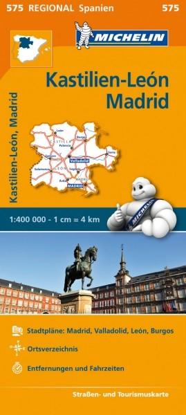 Michelin Regionalkarte Kastilien-León, Madrid