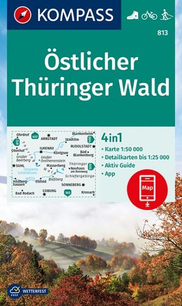 KOMPASS Wanderkarte Östlicher Thüringer Wald