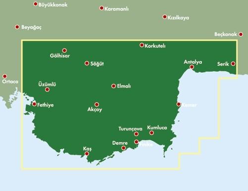Türkische Riviera Karte.F B Ak Fzk Türkische Riviera