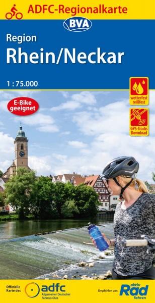 ADFC Regionalkarte Region Rhein/Neckar