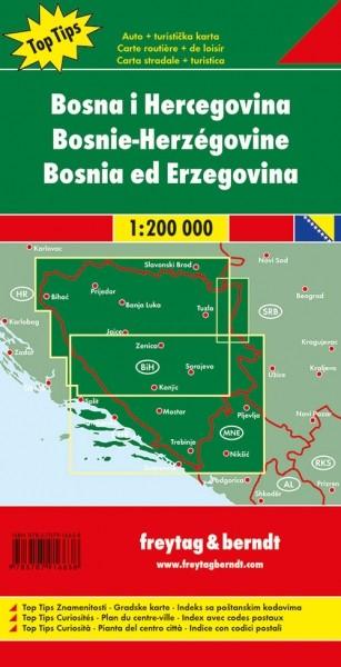F&B Autokarte Bosnien-Herzegowina