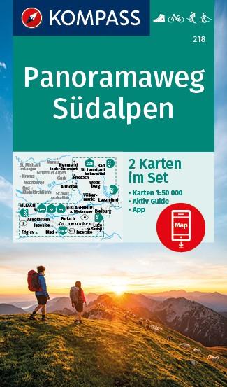 KOMPASS Wanderkarten Set Panoramaweg Südalpen
