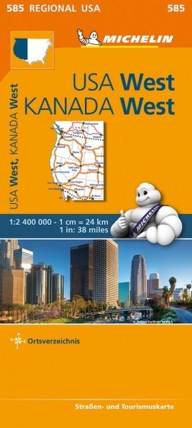 Michelin Regionalkarte USA West Kanada West