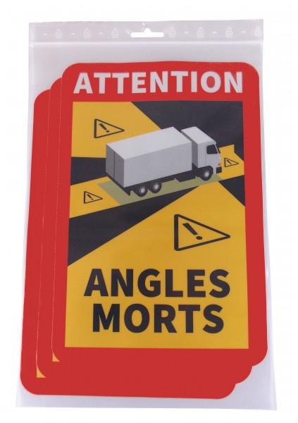 """Angles Morts """"toter Winkel"""" Set 3 Aufkleber LKW"""