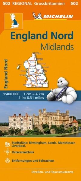 Michelin Regionalkarte England Nord