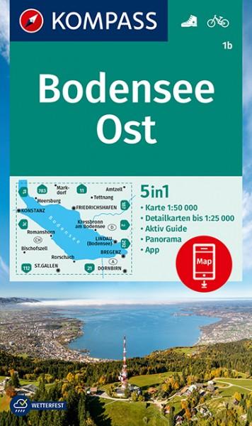 KOMPASS Wanderkarte Bodensee-Ost