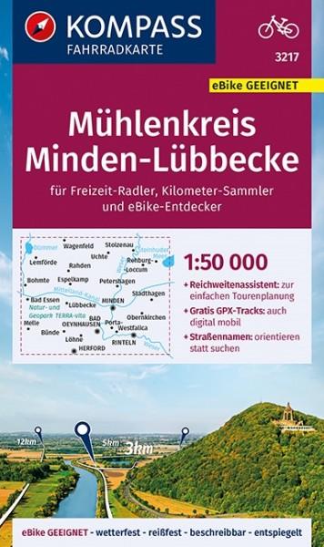 KOMPASS Fahrradkarte Mühlenkreisen Minden-Lübbecke