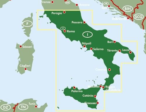 F&B Autokarte + Freizeitkarte Italien Süd