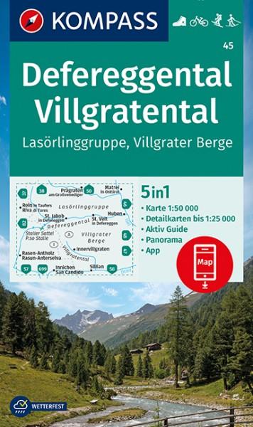 KOMPASS Wanderkarte Defereggental/Villgratental