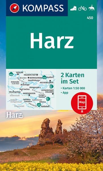 KOMPASS Wanderkarten Set Harz