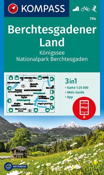 KOMPASS Wanderkarte Berchtesgadener Land