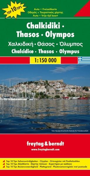 F&B Autokarte + Freizeitkarte Chalkidiki - Thasos