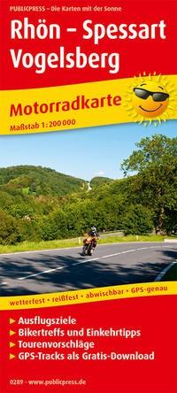 Motorradkarte Rhön - Spessart - Vogelsberg