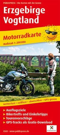 Motorradkarte Erzgebirge - Vogtland