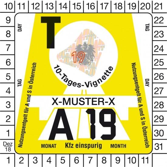 Österreich Vignette Motorrad - 10 Tage